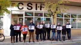 CSIF manifiesta su rechazo a la violencia de género con una concentración