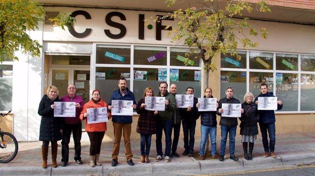Concentración CSIF contra la violencia de género