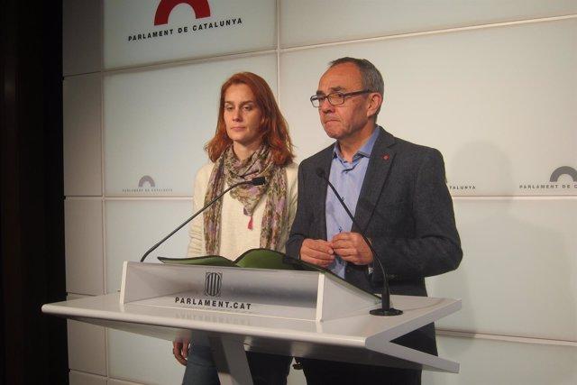 Jéssica Albiach y Joan Coscubiela