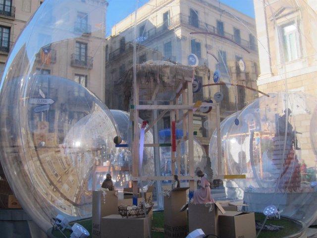 Pesebre de la plaza Sant Jaume de Barcelona