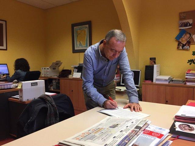 El primer secretario del PSC del Baix Llobregat, Antoni Poveda