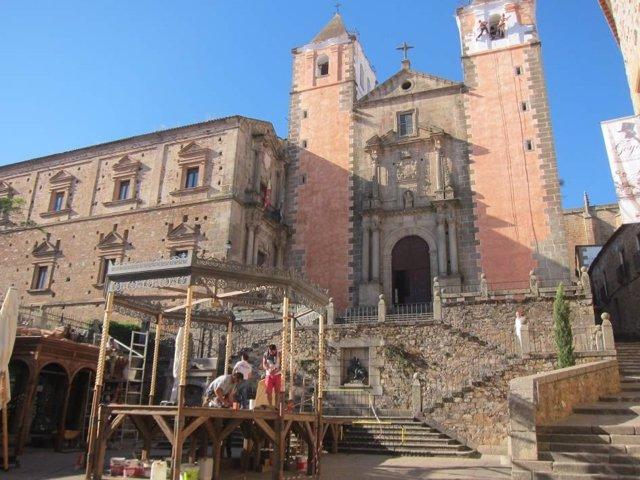 Rodaje de la serie Still Star Crossed en Cáceres