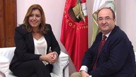 Moreno pregunta por qué Susana Díaz no puso la bandera de España en su reunión con Iceta