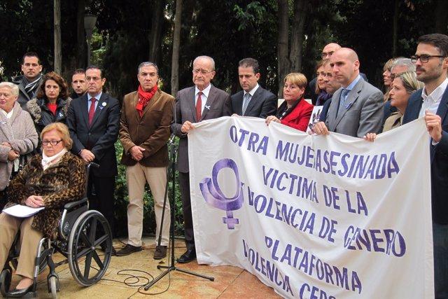 Concentración contra la violencia de género en Málaga 2017