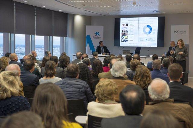 Reunión de accionistas de CaixaBank en Torre Sevilla