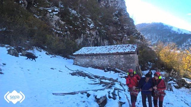 Rescate de montaña en Amieva