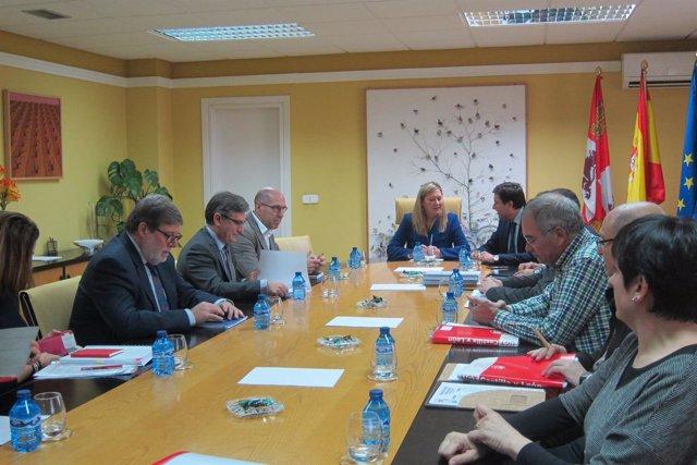 Del Olmo preside la reunión sobre el Plan de Dinamización de Soria
