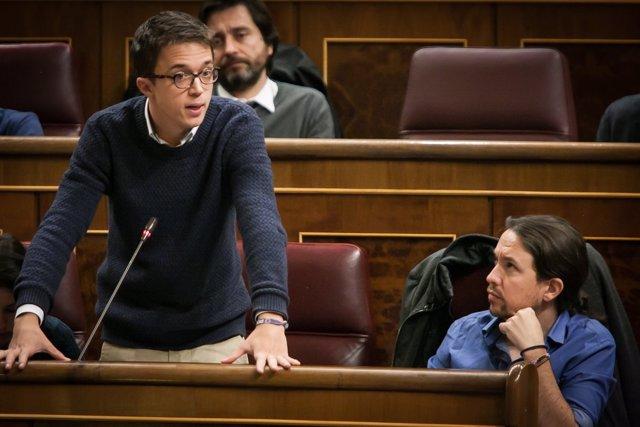 Íñigo Errejón, portavoz de Unidos Podemos