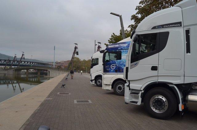 Camiones de transporte