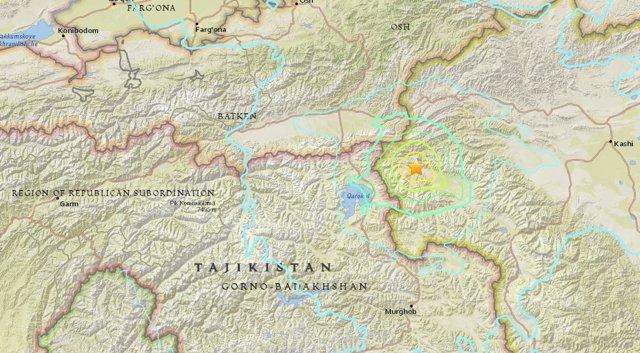 Terremoto en Tayikistán