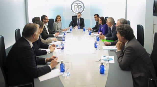 PP, comité de dirección, Rajoy, Cospedal, Maíllo