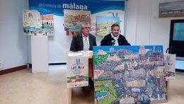Presentación de la muestra de arte naïf de Diputación de Málaga