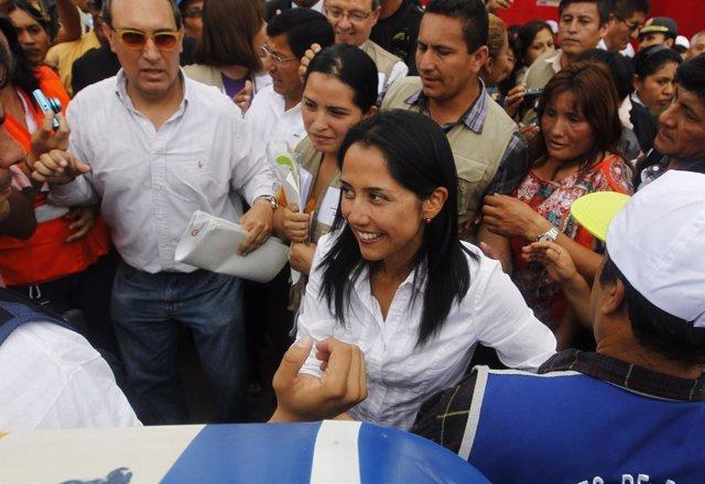 La primera dama peruana, Nadine Heredia.