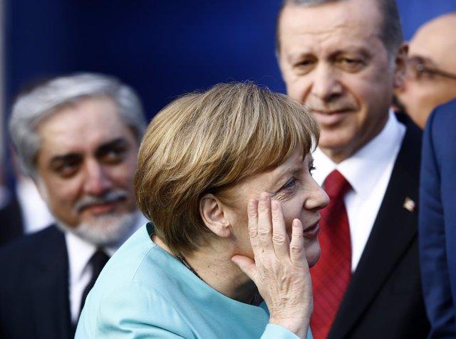 La canciller alemana, Angela Merkel, y el presidente turco, Recep Tayyip Erdogan