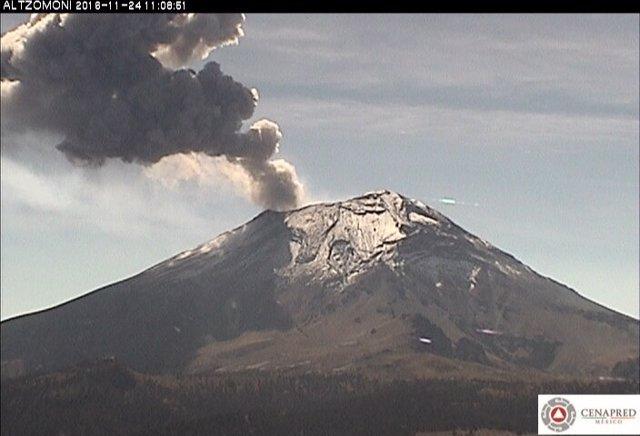 Volcán Popocatépetl en México