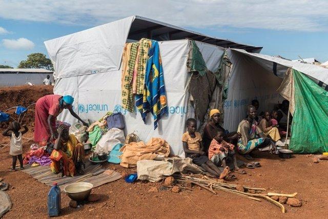 Desplazados por el conflicto en Sudán del Sur