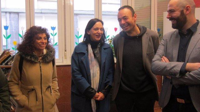 Bescansa en un acto de Podemos Cantabria