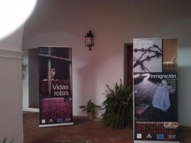Exposición contra la trata y el turismo sexual de la Diputación de Huelva.