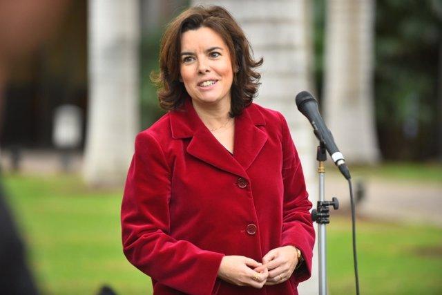 La vicepresidenta del Gobierno, Soraya Sáenz de Santamaría, en Gran Canaria