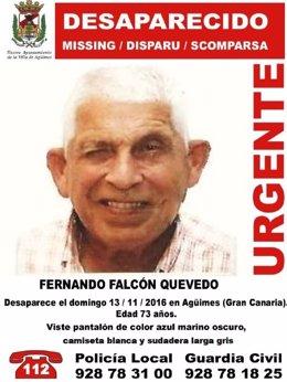 Cartel de la desaparición de Fernando Falcón Quevedo