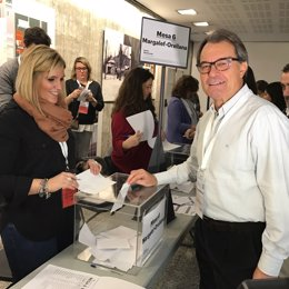El presidente de PDECAT y expresidente de la Generalitata, Artur Mas