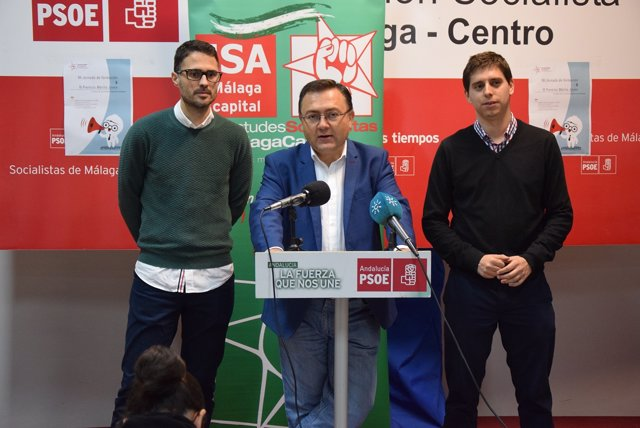 Miguel Ángel Heredia en rueda de prensa