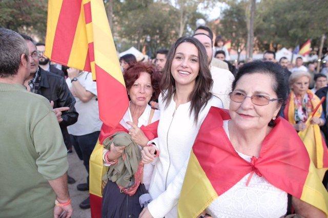 Inés Arrimadas (C's) en el acto del 12-O de SCC