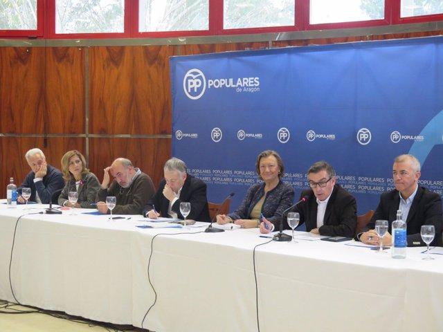 Reunión de representantes del PP en Calatayud