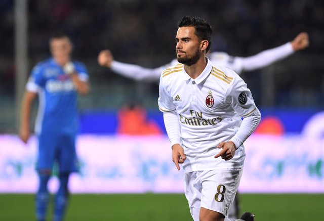 El español Suso del AC Milan