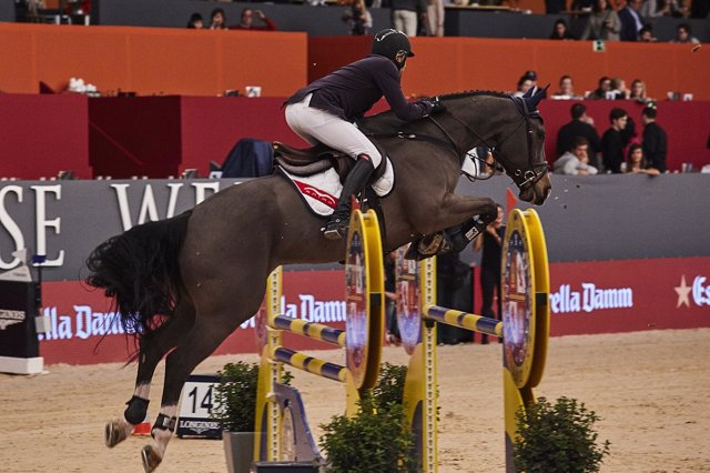 El español Gonzalo Añón en la Madrid Horse Week de hípica