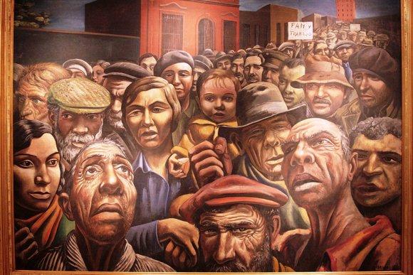 este pintor grabador y muralista argentino desarrolla una obra enraizada en la crtica social y poltica a travs de un gran realismo y de