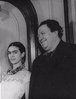 Frida Kalho y Diego Rivera