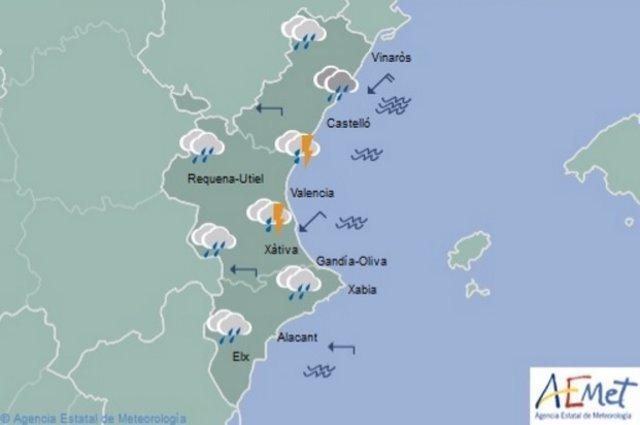 Predicción del tiempo para este domingo en la Comunitat Valenciana
