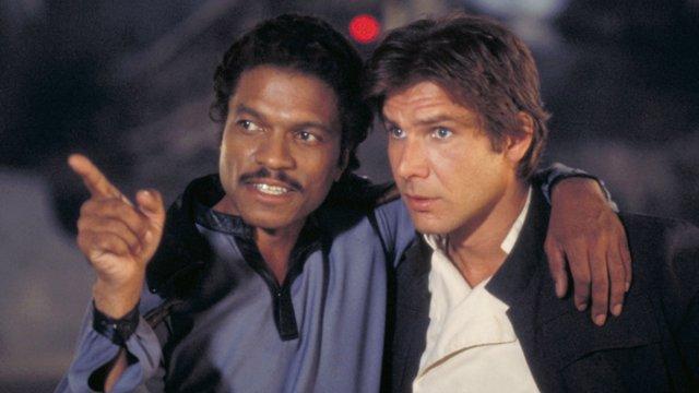 Lando y Han Solo en Star Wars