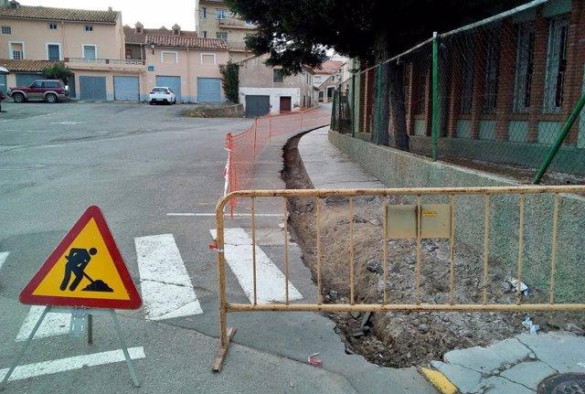 Obras en Utrillas.