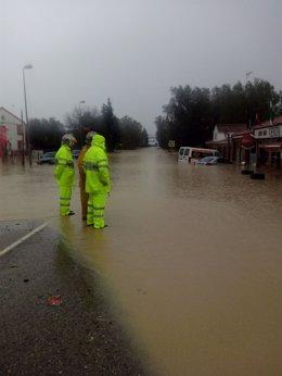 Temporal de lluvias en Cádiz