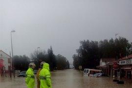 Un centenar de incidencias en la provincia de Cádiz a causa de la lluvia