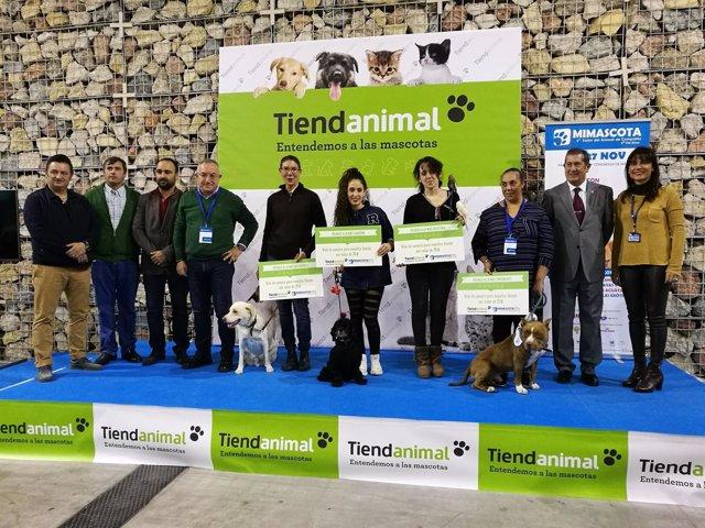 Ganadores de la 'Mascotada' del quinto salón del animal de compañía de Málaga