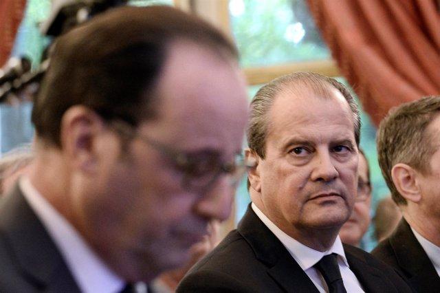 El primer secretario del PS; Jean-Christophe Cambadélis, y François Hollande