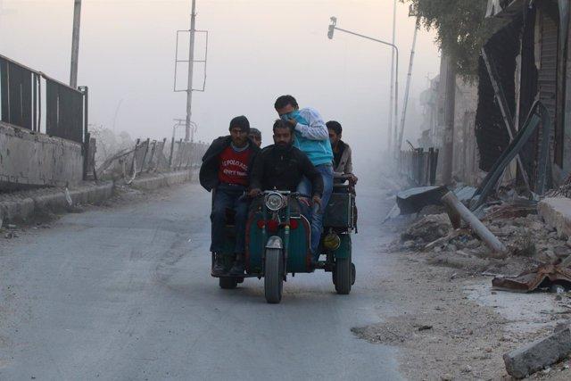 Civiles en Alepo Oriental