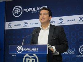 """El PP pide """"garantías"""" de ejecución del PGEx para no presentar enmienda a la totalidad"""