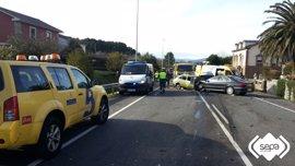 Dos fallecidos y tres heridos graves en los accidentes del fin de semana en Asturias