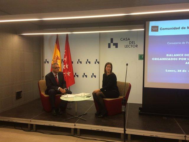Carlos Izquierdo durante la presentación del balance 'Los desayunos de Agencia'