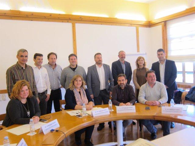 Soro con los alcaldes de los pueblos aragoneses más bonitos