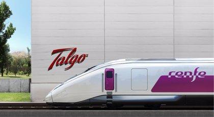 """Talgo destaca que Renfe """"se anticipa al futuro del ferrocarril"""" al elegir su tren AVE"""