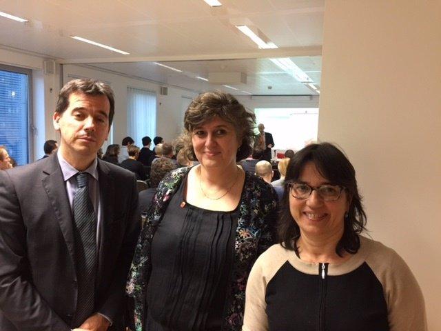 : Irujo, García Y Sola, En La Sesión Del Proyecto Europeo Screen.