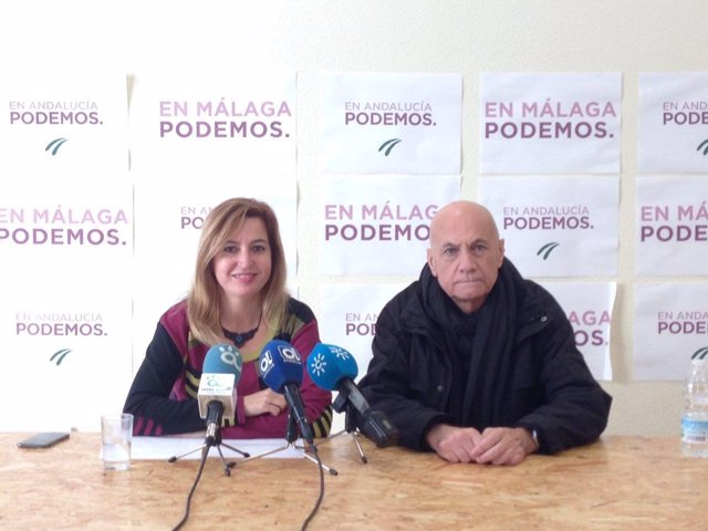 Carmen Lizárraga Podemos Andalucía y Paco Vega activista renta básica