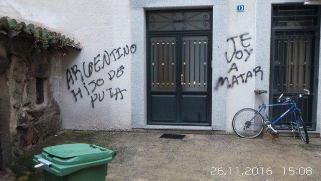 Amenazas en el domicilio de Quiroga