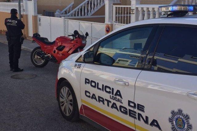 Imagen de la motocicleta recuperada