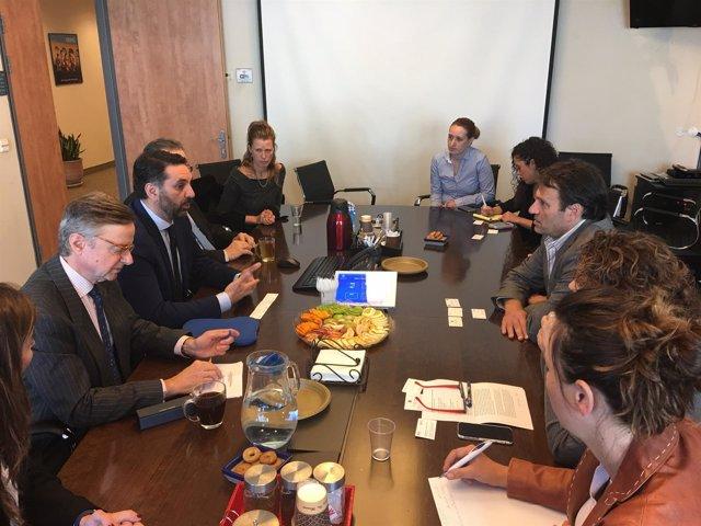 Reunión entre el consejero de Turismo y autoridades de turismo de Israel